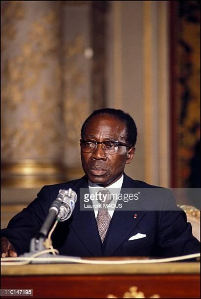 Portrait of Leopold Senghor in Senegal.