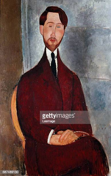 Portrait of Leopold Zborowski polish poet and art dealer Painting by Amedeo Modigliani oil on canvas 1917 Museu de Arte Sao Paulo