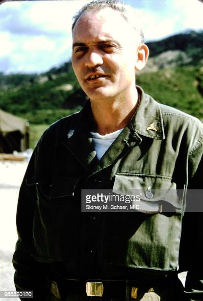 Portrait of Lieutenant Colonel H Haskell Ziperman commanding officer of the 8063rd MASH South Korea January 1952