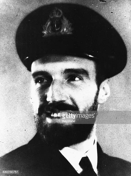 Portrait of Lieutenant Commander Malcolm David Wanklyn awarded the Victoria Cross during World War Two 1941