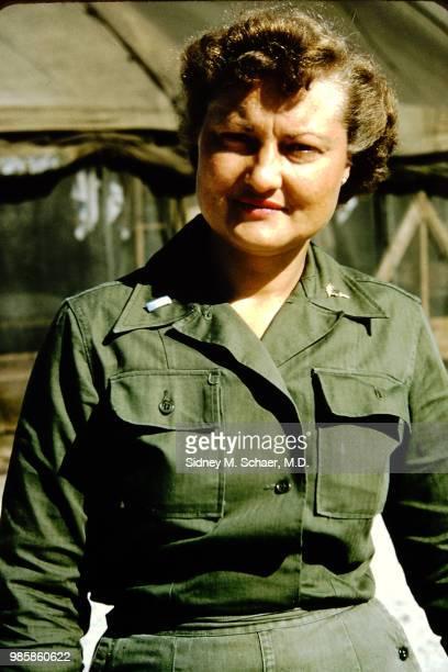 Portrait of Lieutenant Frances Kreuger of the 8063rd MASH South Korea January 1952