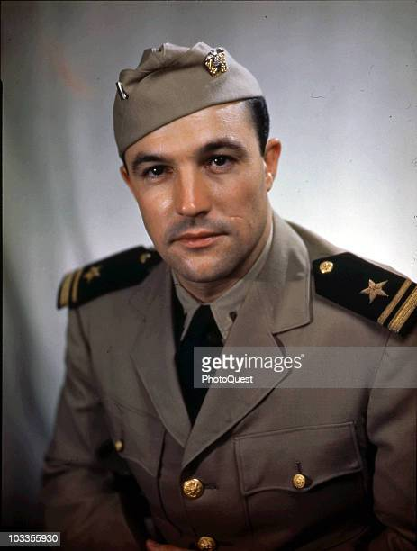 Portrait of Lieutenant Gene Kelly of the United States Naval Air Service August 1945 The photo was probably taken in Washington DC