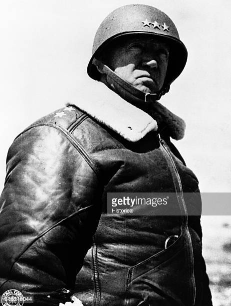 A portrait of Lieutenant General George Patton one of the most aggressive and able generals of World War II Primarily a tank commander he is noted...