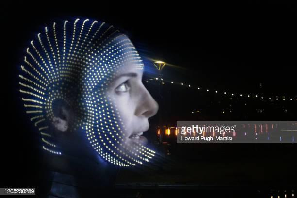 portrait of light & science fiction - 映画のポスター ストックフォトと画像