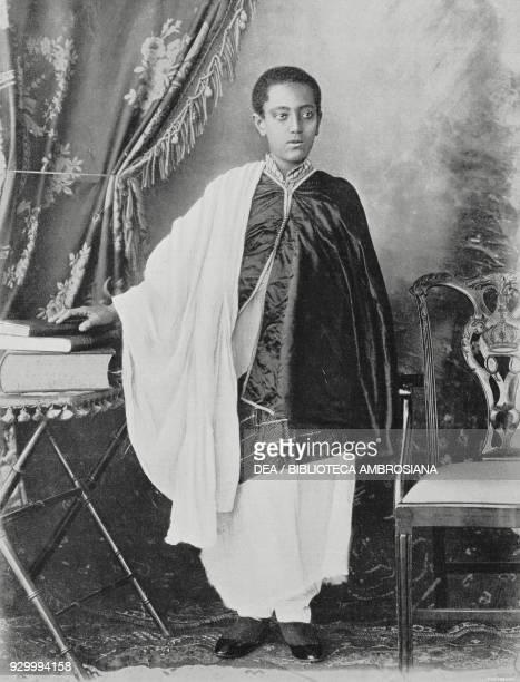 Portrait of Lij Iyasu heir to the throne of Ethiopia from L'Illustrazione Italiana Year XXXVII No 17 April 24 1910