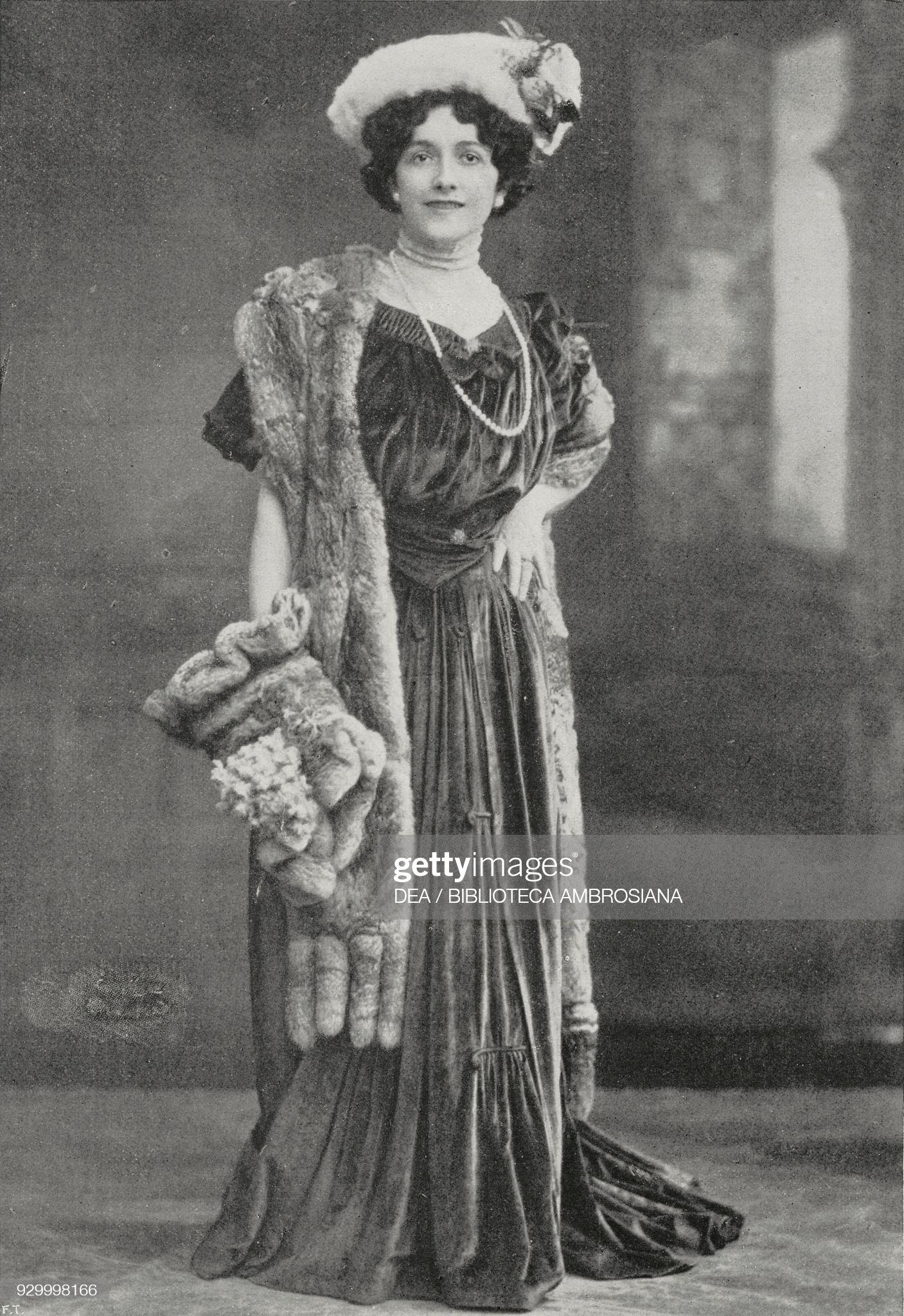 Lina Cavalieri, Italian soprano and film actress : News Photo