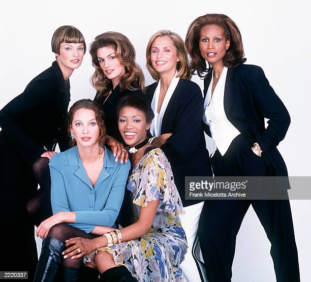 Portrait of Linda Evangelista Cindy Crawford Lauren Hutton Beverly Johnson Christy Turlington and Naomi Campbell Photo Frank Micelotta/Getty...