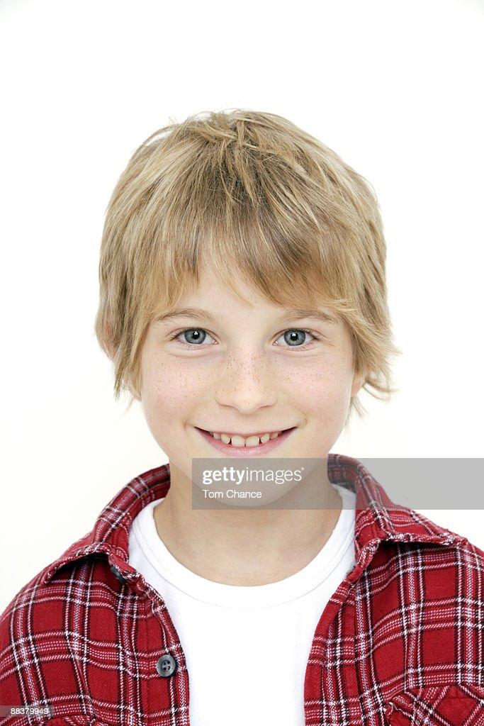 Portrait of little boy (10-11) : Stock Photo