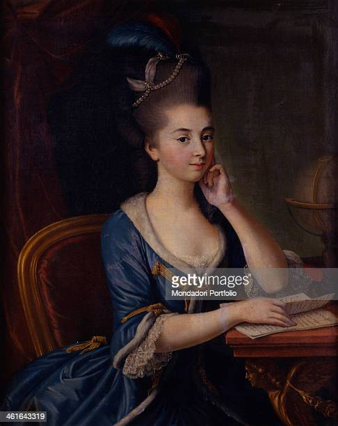 Portrait of Little Countess Maria Litta Castelbarco attributed to Antonio Perego 1766 1780 18th Century oil on canvas Italy Lombardy Milan Castello...