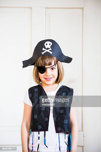 Portrait of little dressed up as a pirate