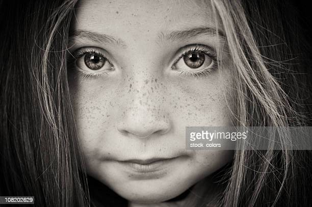 Portrait of Little Girl, Black and White