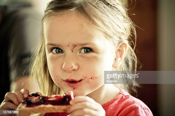 portrait of little girl - jam stock pictures, royalty-free photos & images