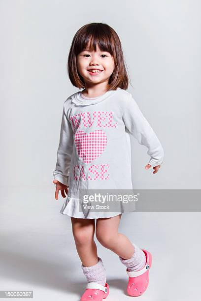 portrait of little girl - cute little asian girls stock photos and pictures