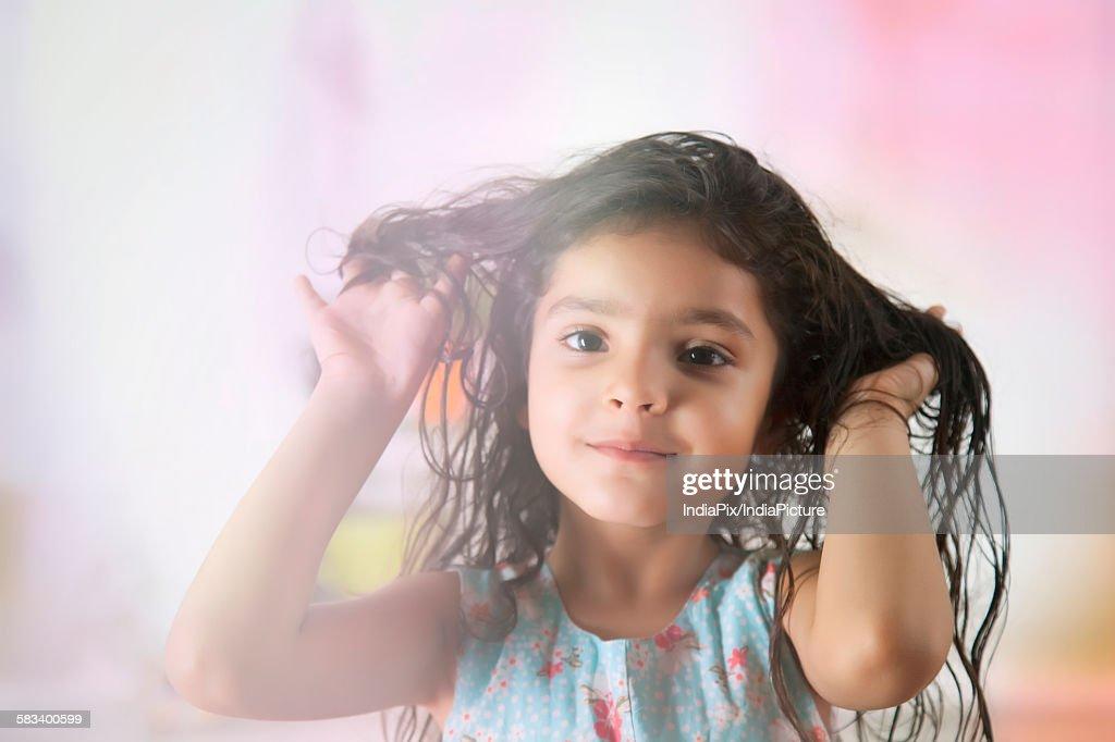 Portrait of little girl : Stock Photo