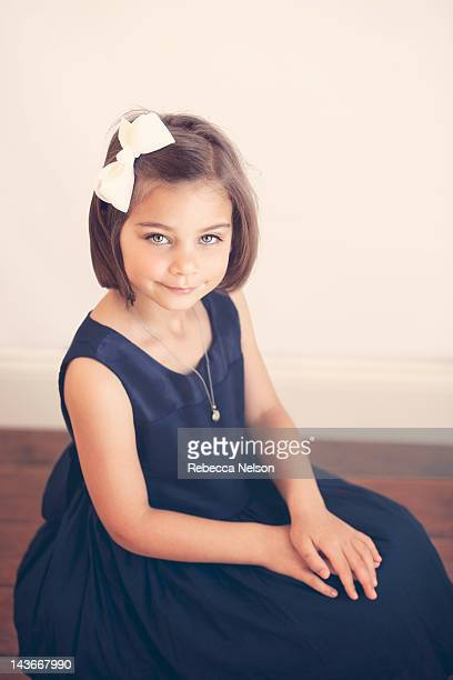 portrait of little girl smiling - rebecca nelson stock pictures, royalty-free photos & images