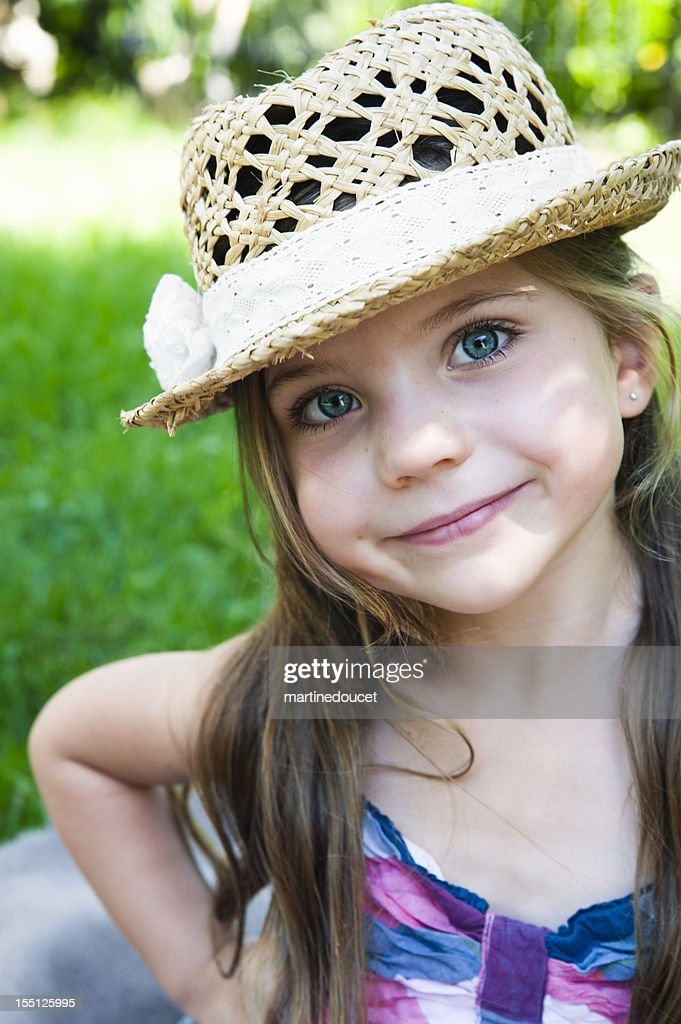 Portrait of little girl with the cutest smile. : Stock Photo