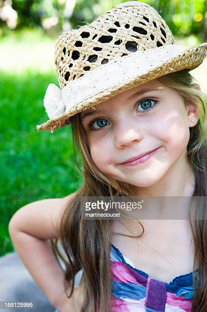 "portrait of little girl with the cutest smile. - ""martine doucet"" or martinedoucet stock pictures, royalty-free photos & images"