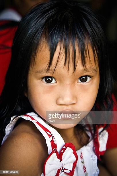 portrait of little malaysian girl - malaysia beautiful girl stock photos and pictures