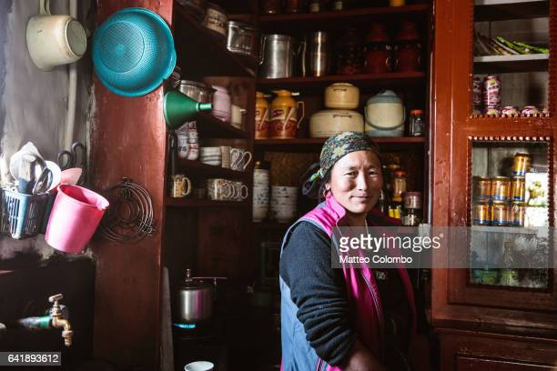 Portrait of local woman, Upper Mustang region, Nepal
