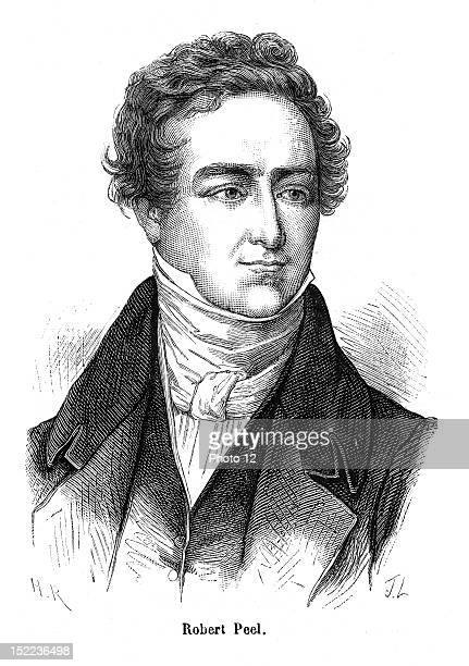 Portrait of Lord Robert Peel who was an english politician