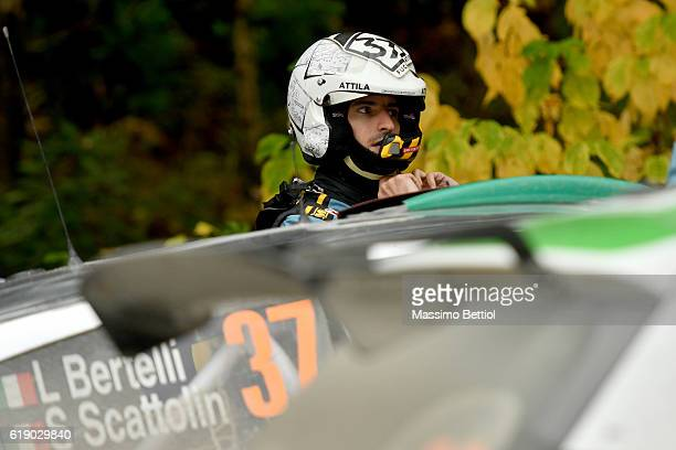 Portrait of Lorenzo Bertelli of Italy during Day Two of the WRC Great Britain on October 29, 2016 in Deeside, Wales.