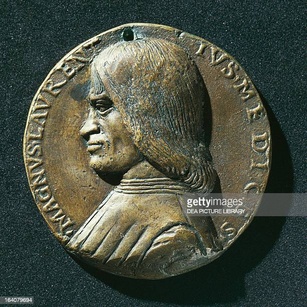 Portrait of Lorenzo de Medici known as Lorenzo the Magnificent Italian writer politician and patron and ruler of Florence from 1469 to his death...