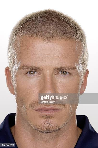 Portrait of Los Angeles Galaxy David Beckham juggling ball PUBLISHED IMAGE