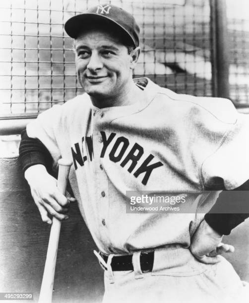 Portrait of Lou Gehrig, considered by many to be the greatest baseball player ever, New York, New York, circa 1932.