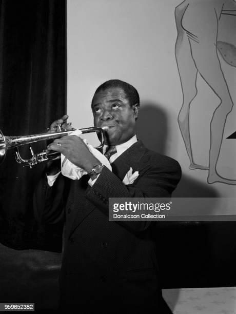 Portrait of Louis Armstrong between 1938 and 1948