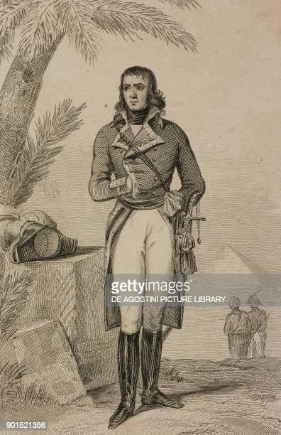 Portrait of Louis Charles Antoine Desaix French general engraving by Lemaitre from Egypte depuis la conquete des Arabes jusque a la domination...