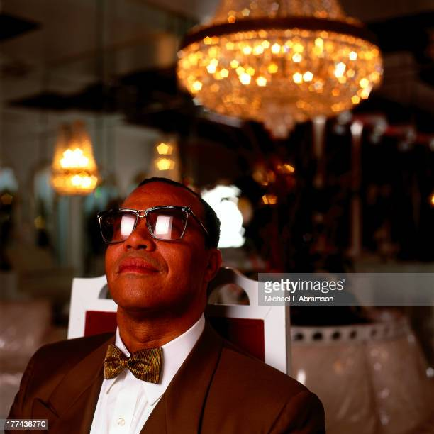 Portrait of Louis Farrakhan leader of the Nation of Islam 1997 Shot for Time Magazine
