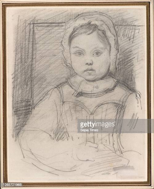 Portrait of Louis Robert, 3 years old, 1843/44, Attributed to Jean-Baptiste-Camille Corot, French, 1796-1875, France, Graphite, with stumping, on...