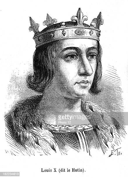 Portrait of Louis X of france who was king of Navarre