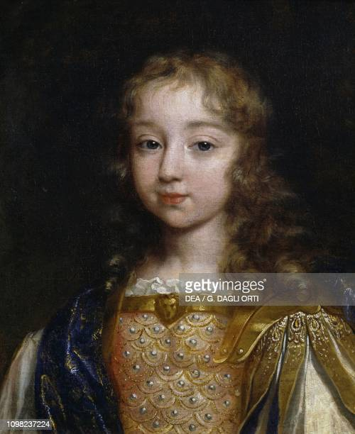 Portrait of Louis XIV as child painting by an unknown artist oil on canvas 45x37 cm
