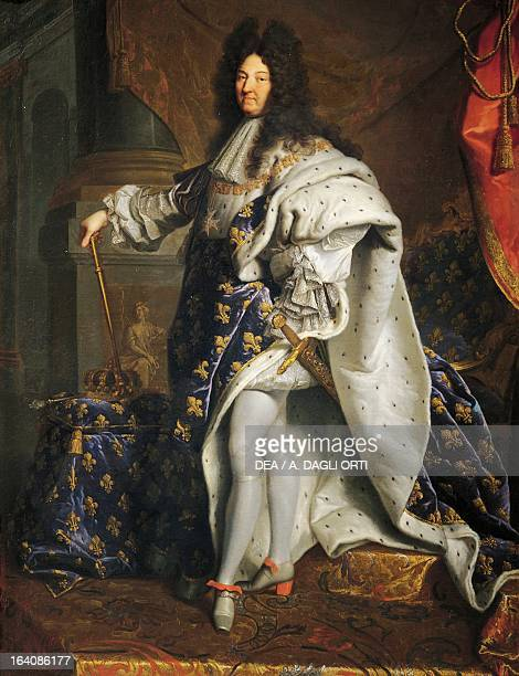 Portrait of Louis XIV of France known as Louis the Great or the Sun King King of France painting by Hyacinthe Rigaud oil on canvas 277x194 cm...