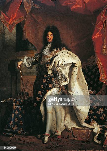 Portrait of Louis XIV of France the third King of France and Navarre in 1701 Painting by Hyacinthe Rigaud oil on canvas 277x194 cm Paris Musée Du...