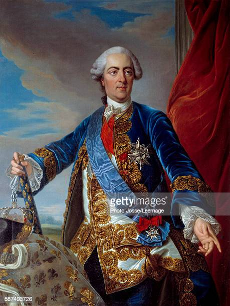 Portrait of Louis XV King of France Painting by LouisMichel Van Loo 18th century 130x098 m BeauxArts and Archeology Museum ChalonsenChampagne France