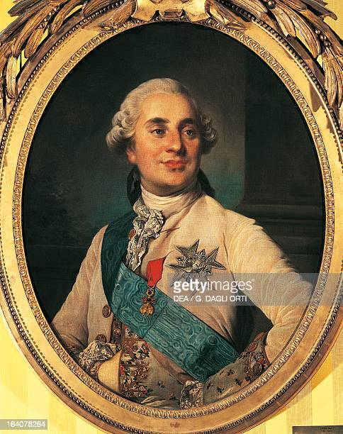 Portrait of Louis XVI , King of France and Navarre. Painting by Joseph Siffred Duplessis . Versailles, Château De Versailles