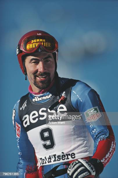 Portrait of Luc Alphand of France after the Men's Downhill event at the International Ski Federation FIS Alpine Skiing World Cup on 8 December 1995...