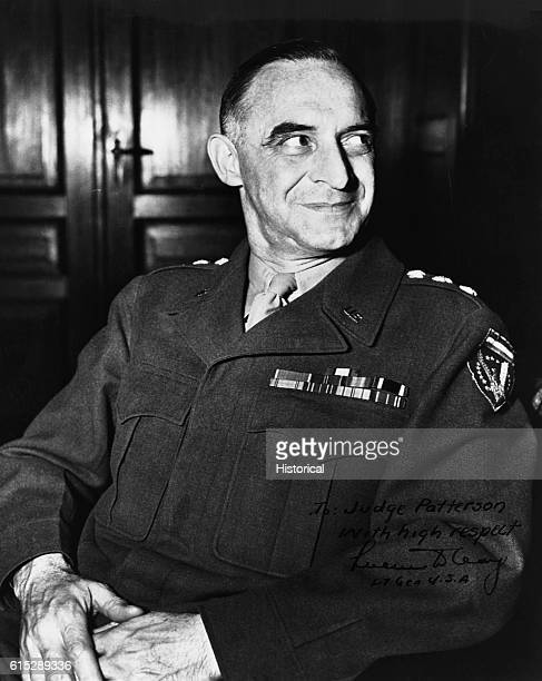 Portrait of Lucius Clay American Army general As military governor of occupied Germany he was in charge of the Berlin Airlift He was later chairman...