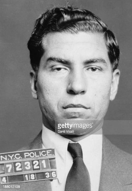 Portrait of Lucky Luciano Police Museum on April 18 1936 in New York New York