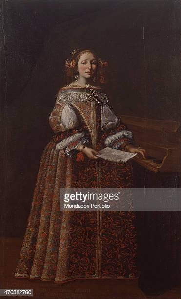 Portrait of Lucy Valcarenghi by Lombard artist 1671 1690 17th century oil on canvas 2195 x 127 cm Italy Lombardy Milan Castello Sforzesco Civic...