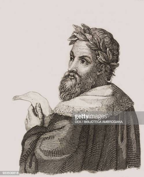 Portrait of Ludovico Ariosto Italian poet and writer engraving from L'album giornale letterario e di belle arti Saturday July 12 Year 1