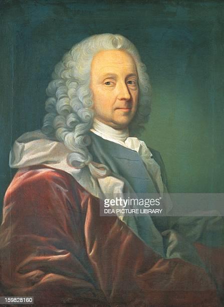 Portrait of Ludvig Holberg , Danish writer. Hillerod, Frederiksborg Slot , Nationalhistoriske Museum