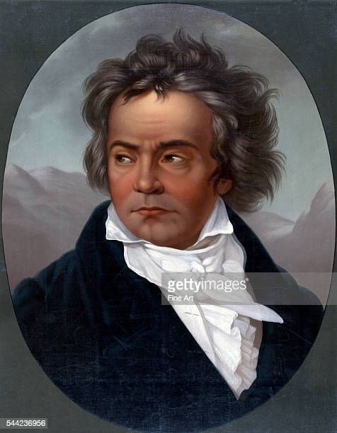 Portrait of Ludwig Van Beethoven by Louis Prang ca 1870 Lithograph printed in the United States Private collection