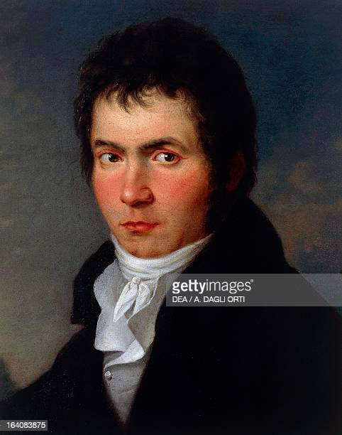 Portrait of Ludwig van Beethoven German composer and pianist Painting by Willibrord Joseph Mahler Vienna Historisches Museum Der Stadt Wien