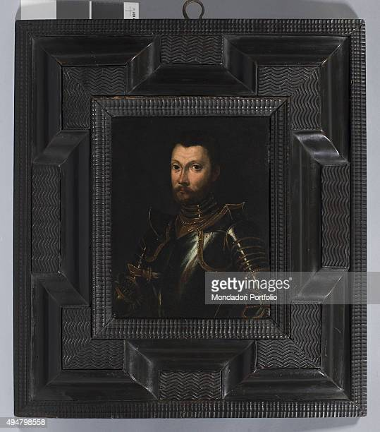 Portrait of Luigi Gonzaga called Rodomonte by unknown artist c 1550 16th Century oil on slate 24 x 19 cm Italy Lombardy Mantua Palazzo Ducale Whole...