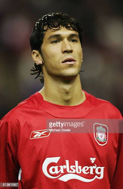 A portrait of Luis Garcia of Liverpool prior to the UEFA Champions League Group A match between Liverpool and AS Monaco at Anfield on September 15...