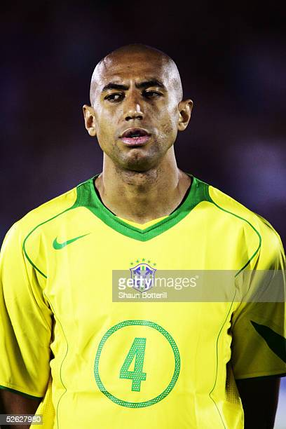 A portrait of Luisao of Brazil prior to the 2006 World Cup Qualifier South American Group match between Uruguay and Brazil at the Centenario Stadium...