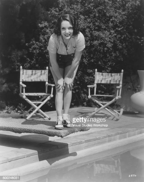 Portrait of Lupe Velez a Mexican film actress at her home Beverly Hills California early to mid 20th century